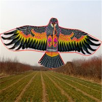 Cordes De Cerf-volant Pas Cher-Vente en gros - Nouveaux jouets de haute qualité marque Huge Eagle Kite Sans String Novel Toy Kites Eagles Large Flying For Outdoor Fun Sports