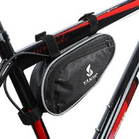 New Arrival Mountain Bicycle Bike Bag Front Frame PVC Tube Triangle Bag Stockage Pouch Black Livraison gratuite