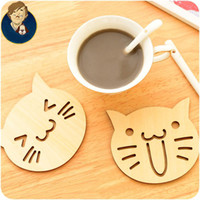Wholesale Chinese Lampshade - Wholesale- wood material cartoon tools wholesale table mat daily using tools crochet coasters zakka doilies cup pad props for lampshade