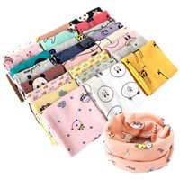 Wholesale fishing scarves - 2017 new arrival Baby cotton neck warmers cartoon animals print baby ring scarf fish lion panda giraffe bear cute neckerchief for 2-7T
