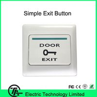 Wholesale Cheap Push Button Switches - Wholesale- Good quality cheap E17A plastic exit button push switch for single door access control system