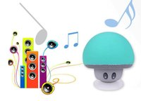 Reproductor De Audio Pc Baratos-Mushroom Mini inalámbrico Bluetooth manos del altavoz manos libres Sucker Cup receptor de audio Mp3 jugador de música estéreo Subwoofer USB para Android IOS PC