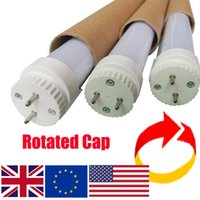 Wholesale led tube lights holder - Rotating 4ft led t8 tubes light integrated t8 4ft 18W rotary lamp holder rotated G13 Cap tube parper tube package rotatable t8 led