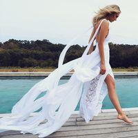 Wholesale Sexy Hochzeitskleid - 2017 Summer Chiffon Boho Wedding Dresses Spaghetti Straps Lace Beach Wedding Dress Split Sexy Bridal Gowns Cheap hochzeitskleid Custom Made