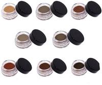 ingrosso migliori marche di cioccolato-I cosmetici brandnew caldi all'ingrosso del fronte dell'occhio 8 del gel di colori dell'eccellente del cioccolato migliorano il trucco cremoso impermeabile di Enhancer del sopracciglio di migliore qualità liberano la nave