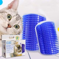 Wholesale Corner Plastic - Pet Products For Cats Brush Corner Cat Massage Self Groomer Comb Brush With Catnip Wholesale Free Shipping