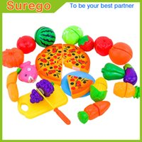 Wholesale Pizza Set - Kitoz Mini Kitchen Miniature Food Pizza Fruit Vegetable Pretend Play Cooking Toy Set For Children Girl Boy Chef Cutting