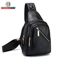 Wholesale Single Strap Man Bags - Wholesale- FD BOLO Brand Bag Men Chest Pack Single Shoulder Strap Backpack Leather Travel Bag Men Crossbody Bags Fashion Rucksack Chest Bag