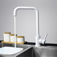 Wholesale Painted Kitchen Sinks - Multi Color Single Handle Kitchen Faucet Mixer Single Hole 360 Rotate Kitchen Tap Stainless Steel Paint Finish Sink Mixer Taps