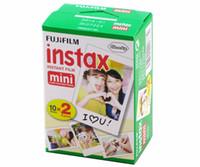 Wholesale Wide Film - New 20pcs box fujifilm instax mini 8 film 20 sheets for camera Instant mini 7s 25 50s 90 Photo Paper White Edge 3 inch wide film