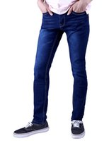 Wholesale Candy Pants For Men - Wholesale- 2016 New Men`s Candy Color Jeans Multi Colors Classic Washed Vintage Regular Fit Stretchy Casual Pants Trousers For Male