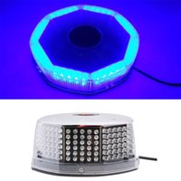 240 LED Super Blue Auto Harzard Beacon Notfall Magnetic Strobe Blitz Licht Bar