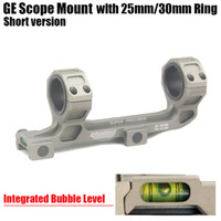 GE Jagdgewehr Scope Mount 25mm / 30mm Ringe AR15 M4 M16 mit integriertem Bubble Level Fit Weaver Picatinny Rail Kurzversion Dark Earth