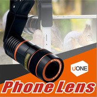 Wholesale 8X Zoom Telescope Lens Telephone Lens unniversal Optical Camera Telephoto phone len with clip for Iphone Samsung LG HTC Sony Smartphone