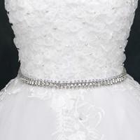 bande de mariage étincelante achat en gros de-Superbes ceintures de mariage longues ceintures de mariée accessoires de mariage ceintures de mariage étincelant