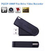 Wholesale mini motion activated hidden camera - 16GB memory built-in Full HD 1920*1080P Mini USB Disk Hidden Camera Flash Drive Motion Activated Video Recorder DV Camcorder PQ229