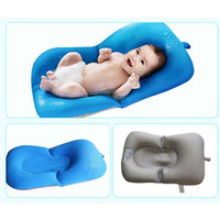 Wholesale Padded Bath Mat Pad - Infant Air Cushion Bed Baby Bath Pad Non-Slip Bathtub Mat New Born Safety Security Bath Seat Support Baby Shower Portable Free DHL