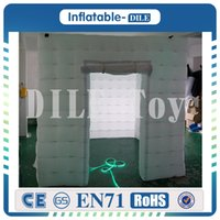 Wholesale Party Tent Sales - New style factory price LED wedding party inflatable photo booth  Inflatable photo booth tent For sale