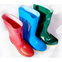 Wholesale Wholesale Women Rain Boots - Women 's boots rain boots thickening tendon at the end of industrial and mining boots waterproof oil resistant acid and alkali wear