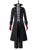 Wholesale Custom Cosplay Outfits - Persona 5 Protagonist Joker Cosplay Costume Coat Suit Jacket Outfit Top Attire Dress