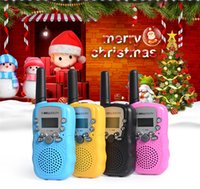 Wholesale Wireless Mini Walkie Talkie - 2Pcs Lot Portable T-388 4Colors Children kids Small radio walkie talkie Adjustable Portable Mini Wireless 2-Way Radio Travel Walkie Talkie