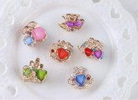 Wholesale Small Hair Clamps - The new children's hair bow grip Korean small diamond claw top clamp