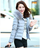 Wholesale Woolen Clothes Design - Women Winter Parkas Cotton Padded Coat Hooded with Fur Female Warm Jackets Middle-aged Mother Clothing Overcoat Top