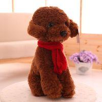 Wholesale dogs toy poodle online - 2017 new Simulation lady teddy dog plush doll child birthday dog Poodle custom toys