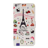 Wholesale Iphone Wallet Eiffel - Flower Flip Cover Eiffel Tower Owl Butterfly Wallet Leather Case for iphone 7 plus 6 6s plus 5S Samaung Galaxy S8 plus
