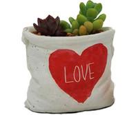 Wholesale Wholesale Decorative Plant Pots - 3PCS MOQ Creative Cement Art Flower Pot for Home Garden Floor or Bedroom Table Planters Decorative Planting Pots Micro-landscape Pot
