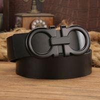 Wholesale Black Gold Wide Belt - big belt and big buckle fashion designer men belts women high quality new luxury brand belt free shipping