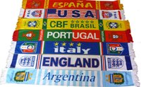 Wholesale Wholesale Football Scarves - Wholesale-Free Shipping Italy Scarves Soccer Fans Red-Black 17*150cm Football Club Badge Scarf Trinket
