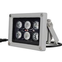 ir lamba cctv toptan satış-CCTV Array IR aydınlatıcı kızılötesi lamba 6 adet Dizi Led IR Açık IP65 CCTV Kamera için Su Geçirmez Gece Görüş