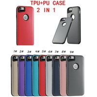 Wholesale Hybrid Matte Soft Case - For Iphone 7 Case 2 In 1 Hybrid Case Soft TPU+ PC Matte Smooth Surface Back Cover Case For Iphone 5S OPP Package