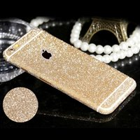Wholesale Diamond Sparkling Screen Protector - New Full Body Glitter for iPhone 5 5S SE Shiny Phone Sticker Case Gold Sparkling Diamond Film Decals Matte Screen Protector