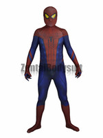 ingrosso costumi incredibili-Incredibile costume di Spider-Man Spiderman Suit-3D Costume cosplay stampato Zentai Halloween Party