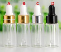 Wholesale Wholesale Ml Vials - 50  lot 5ML Clear Glass Dropper Bottle, 5 ML serum Vial, 5ml Cosmetic Packaging, Sample Display Container