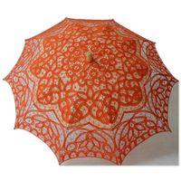 Wholesale Ivory Lace Wedding Umbrellas - Free shipping New Vintage Lace Umbrella Handmade Cotton Embroidery Battenburg Ivory Lace Parasol Umbrella Wedding Decor