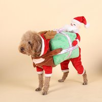Wholesale Female Pumpkin - Dog Clothes Christmas Adjustable Costumes Pet Supplies 5 Sizes Available Cotton Maded The God Of Wealth Pumpkin Patterns Embellished