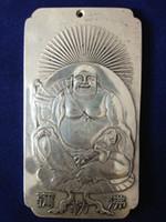 Wholesale Tibetan Bags - Chinese Old tibetan Maitreya tibet Silver Bullion thanka amulet 136g