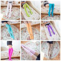 Wholesale Pair Cosplay - 11 Colors Autumn And Winter Velvet Overknee Sock Student Stockings Lengthened Knee-high Socks Cosplay Supplies 2pcs pair CCA7956 100pair