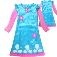 Wholesale Performance Magic - New summer girl magic wizard trolls costumes for kids girls baby dress lace magic fancy party Banquet Performance cosplay dress