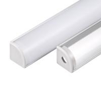 led smd flash al por mayor-conducido perfil de aluminio, 2m por el sistema, el perfil de extrusión de aluminio LED para las tiras llevadas con cubierta difusa lechoso o cubierta transparente SN1616