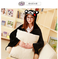 Wholesale animal plush valentine - New Cosplay Totoro Lovely Plush Soft Cloak Totoro Cape Cat Cartoon Cloak Coral Fleece Air Blankets Birthday Valentine Gifts11