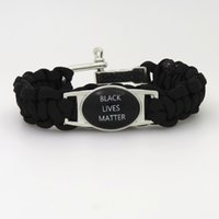 European style outdoor living gifts - 2017 new Black LIVES MATTER Paracord bracelet Survival sport Jewelry dont shoot Outdoor bangle