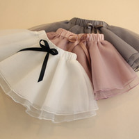 Wholesale Summer Toddler Girls Pettiskirts - Baby Girl Pettiskirts Net Veil Skirt Kids Cute Princess Clothes Birthday Gift Toddler Ball Gown Party Kawaii Tulle Skirts