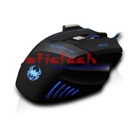Wholesale by dhl or ems ZELOTES T80 Backlight DPI Button Mouse Gamer Gaming Multi Color LED Optical USB Wired Gaming Mouse