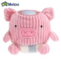 Wholesale metoo cartoon - METOO Children Lovely Cartoon Doll Pattern Home Bedside Plush Pat Nightlight Soft Comfortable Sleep Lamp Christmas Gift