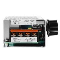moteur électrique à courant alternatif achat en gros de-Contrôleur de vitesse électrique de moteur de gradateur de régulateur de tension de SCR de 4000W 220V AC TE474