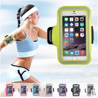 Wholesale Band Iphone Covers - Arm Band Waterproof Gym Outdoor Pouch Sports Armband Running Phone Case Cover for iPhone X 7 6S Plus Samsung Galaxy S8